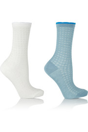 Set of two stretch-knit socks