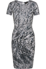 McQ Alexander McQueen Printed stretch-cotton jersey dress