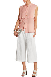 McQ Alexander McQueen Crinkled-crepe culottes