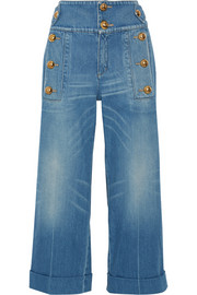 Gucci Cropped wide-leg jeans