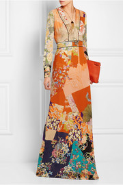 Gucci Printed silk crepe de chine gown