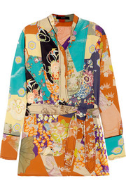 Gucci Printed silk crepe de chine shirt