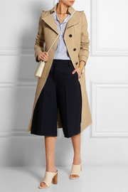 Cotton and silk-blend tricotine trench coat