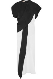 Marni Draped canvas midi dress