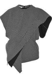Marni Textured-knit wrap top
