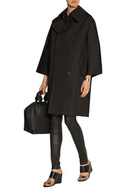 Coated cotton trench coat