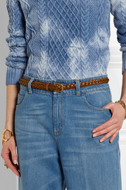 Gucci Braided leather belt