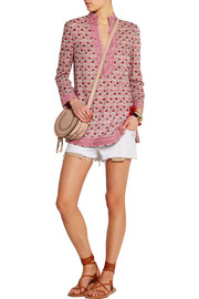 Tory printed cotton-voile tunic