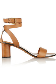 Gucci Suede-trimmed leather sandals