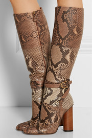 Gucci Python knee boots