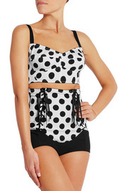 Polka-dot stretch-satin briefs