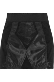 Dolce & Gabbana Lace-paneled stretch-faille briefs