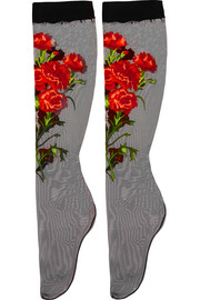 Dolce & Gabbana Embroidered tulle socks