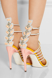 Embellished leather sandals