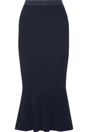 Sidone ribbed stretch-jersey skirt