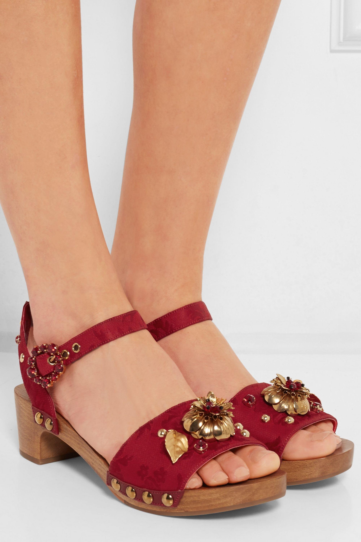Dolce & Gabbana Embellished brocade sandals