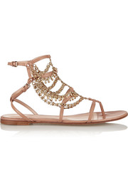 Gitana chain-embellished leather sandals