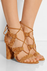 Braided suede sandals