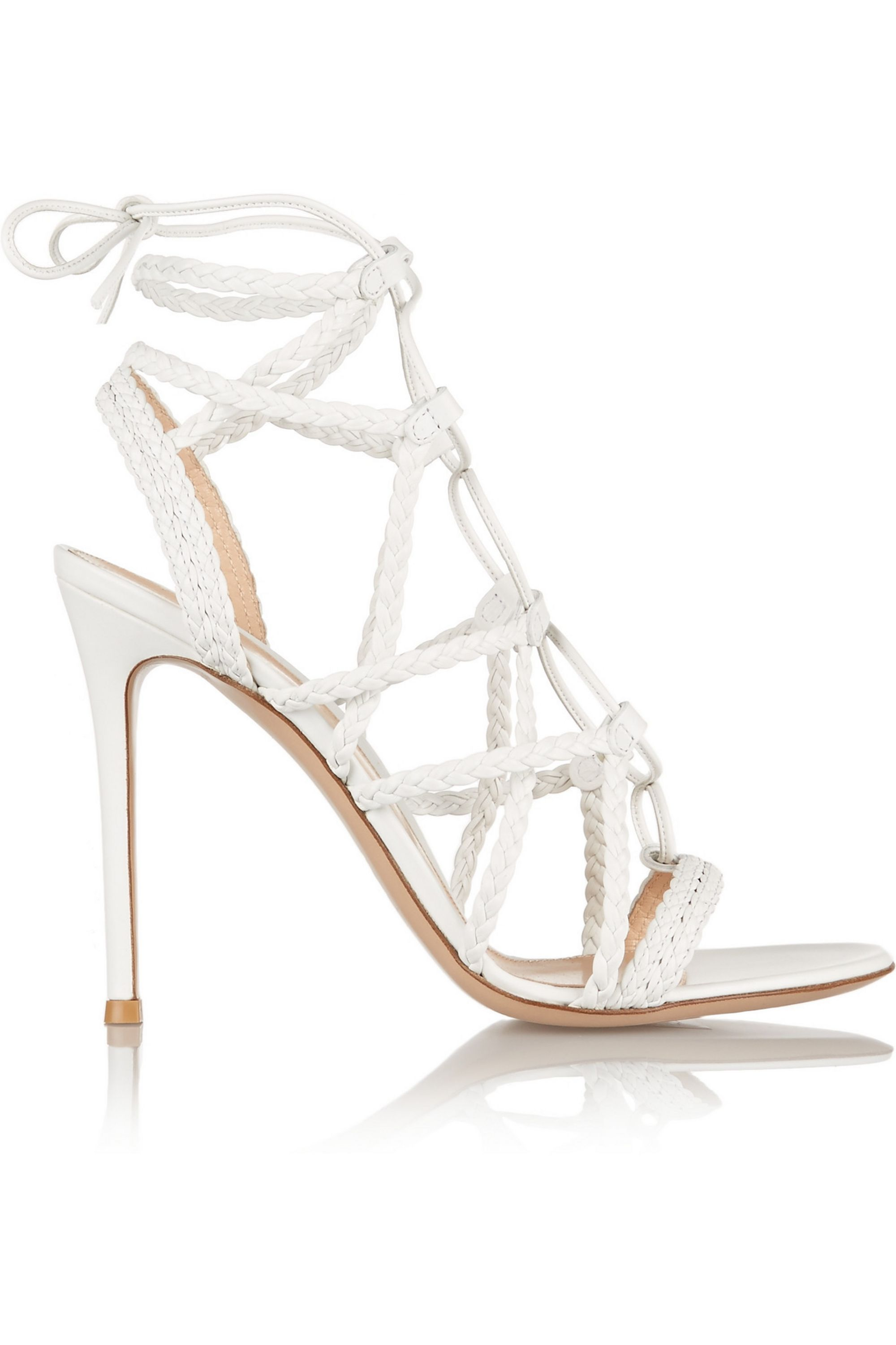 Gianvito Rossi Braided leather sandals
