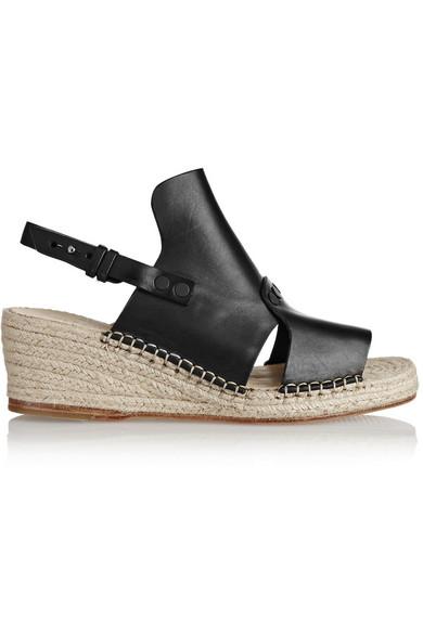 06298625955 Sayre II leather espadrille wedge sandals