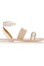 Lara cotton-canvas and leather sandals