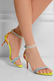Sophia Webster Nicole neon textured-leather sandals