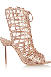 Delphine metallic leather sandals