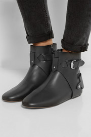 Brooks leather ankle boots