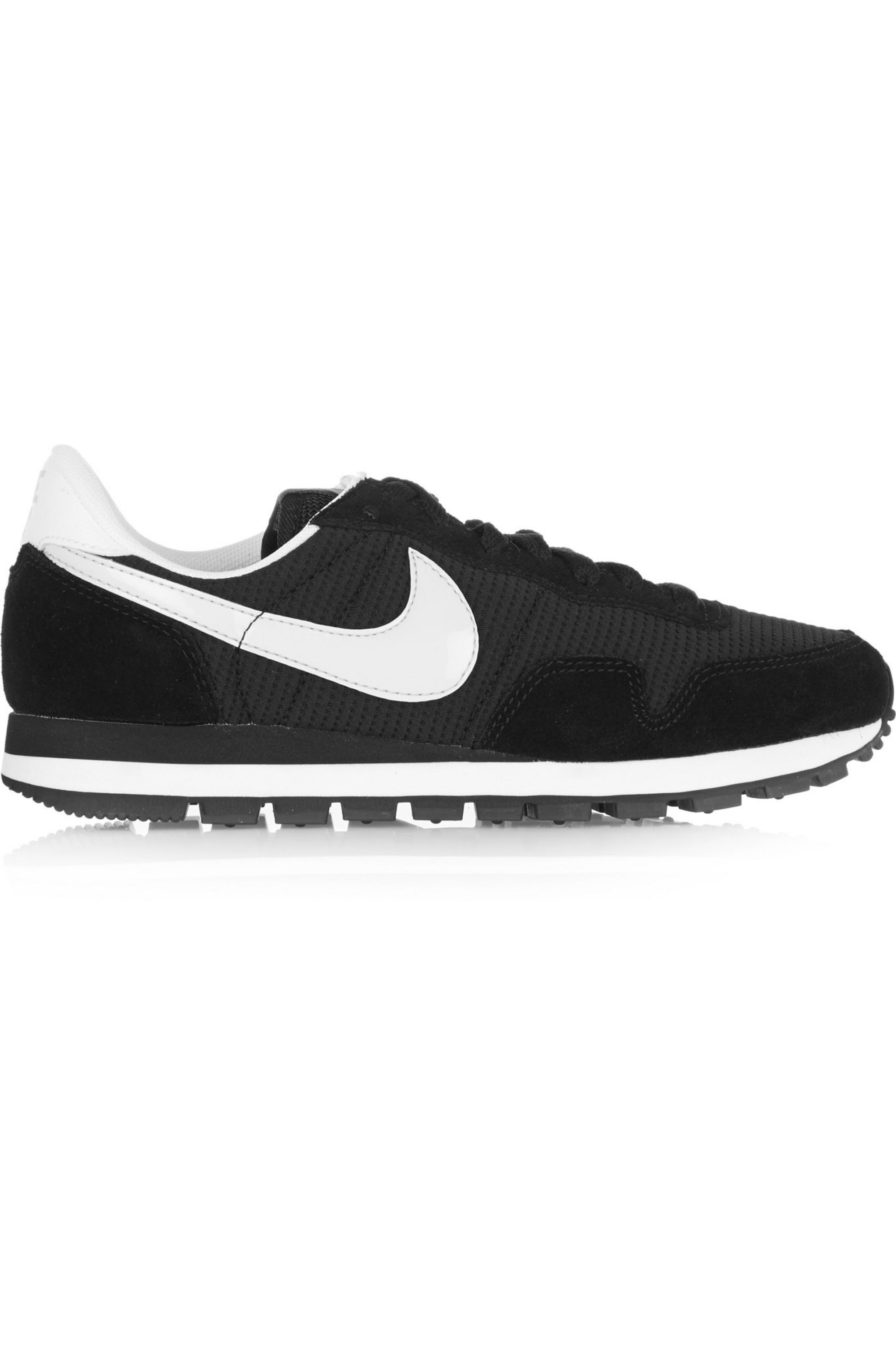 Black Air Pegasus 83 suede, leather and