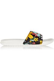 Benassi JDI printed faux leather slides