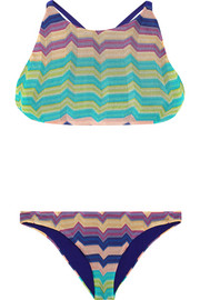 Missoni Cross-back crochet-knit bikini