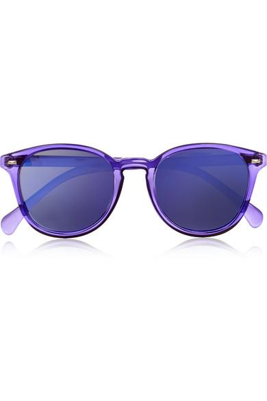 adb6254b87 Le Specs. Bandwagon round-frame acetate sunglasses