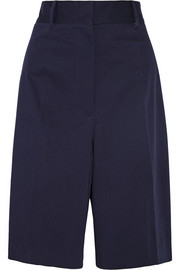 Oversized stretch-cotton twill shorts