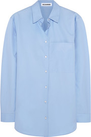 Terry oversized cotton-poplin shirt