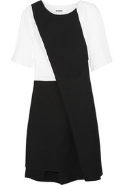 Jil Sander Cotton-poplin and twill dress