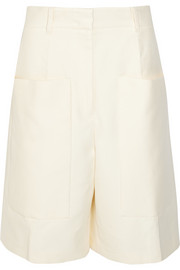 Jil Sander Tancredi cotton-twill wide-leg shorts