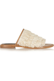 Jack fringed leather slides