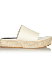 Masha leather espadrille slides