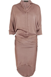Haider Ackermann Crinkled-satin dress