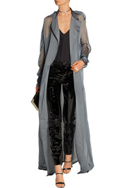 Silk-mousseline trench coat