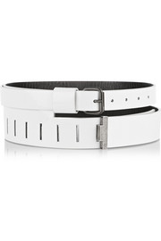 Patent-leather waist belt