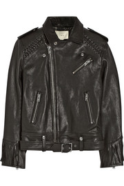 Zerignola fringed leather jacket