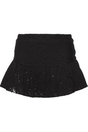 Filen cotton-blend lace mini skirt