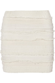 IRO Occeli smocked georgette mini skirt