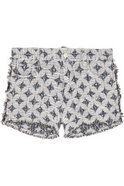 Haris cotton-blend bouclé-tweed shorts