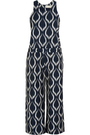 Hitomi printed cotton-blend jumpsuit