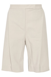 Sachiko pleated cotton-crepe shorts