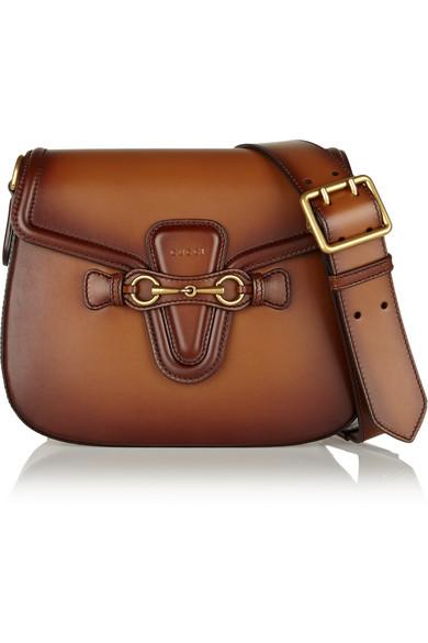 e99a72b5c3 Gucci | Lady Web medium leather shoulder bag | NET-A-PORTER.COM