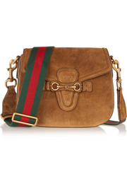 Gucci Lady Web medium suede shoulder bag