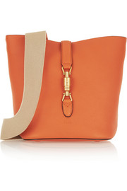 Jackie textured-leather shoulder bag